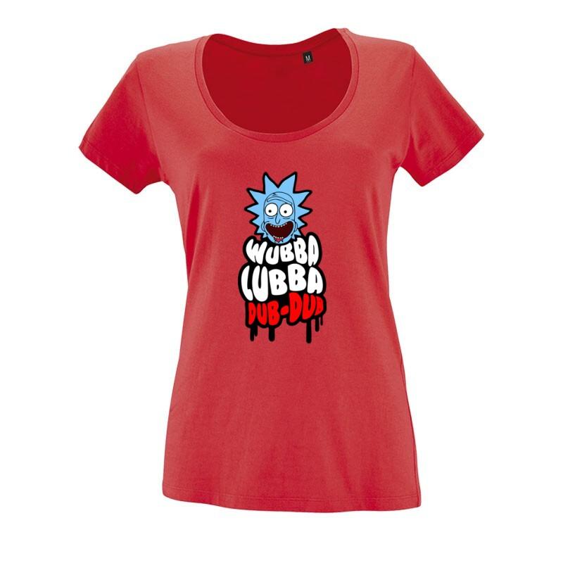 Wubba Lubba O nyakú női póló