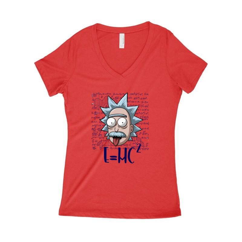 Rick Einstein Női póló V kivágott