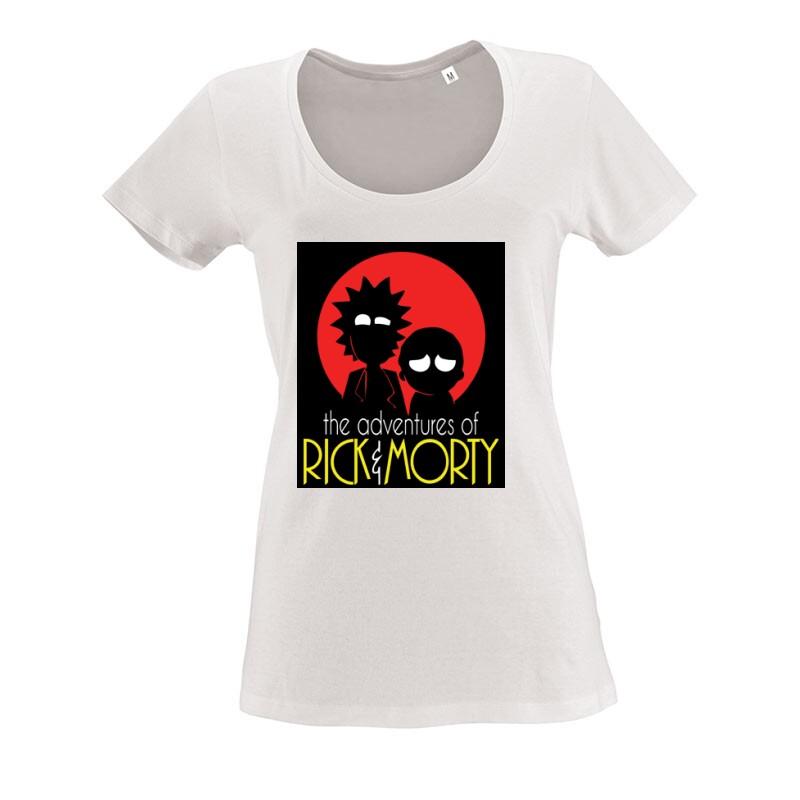 Rick Morty O nyakú női póló
