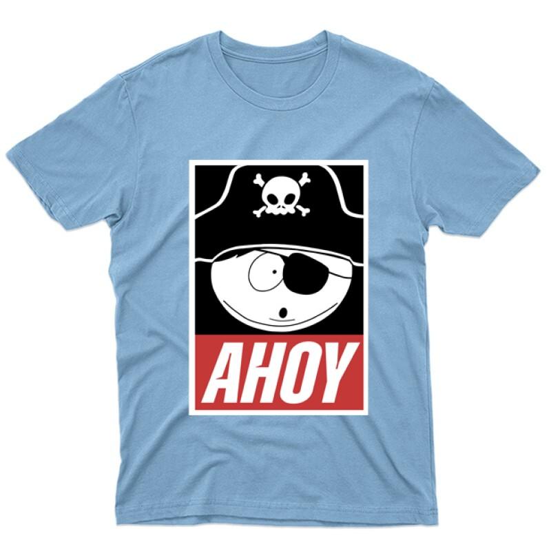 Rick Morty Ahoy Férfi póló