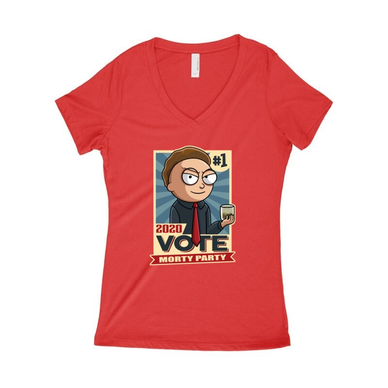 Vote Morty Női póló V kivágott