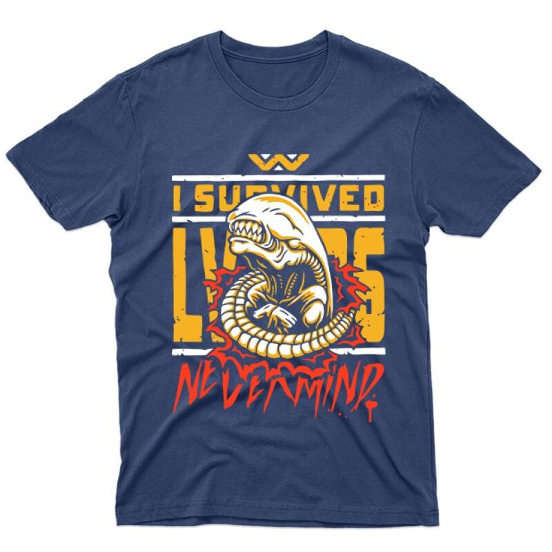 I Survive LV426 Férfi póló