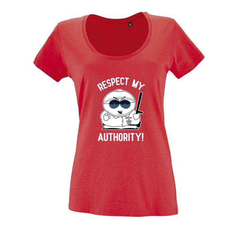 Respect My authority 2 O nyakú női póló