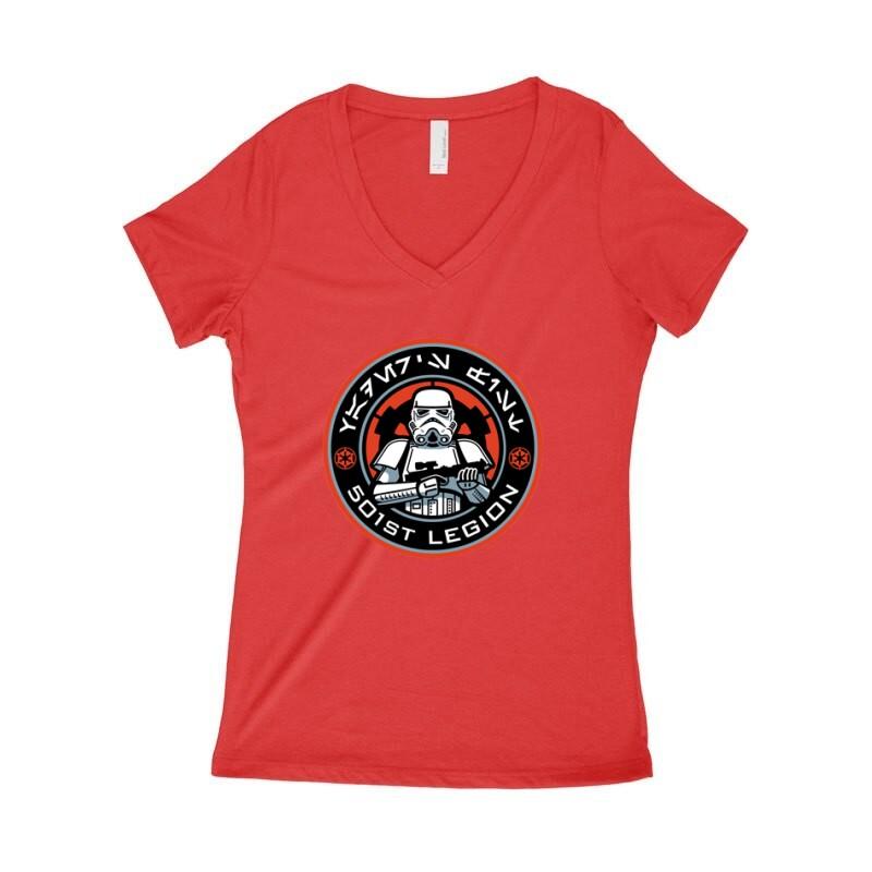 501 Legion Női póló V kivágott