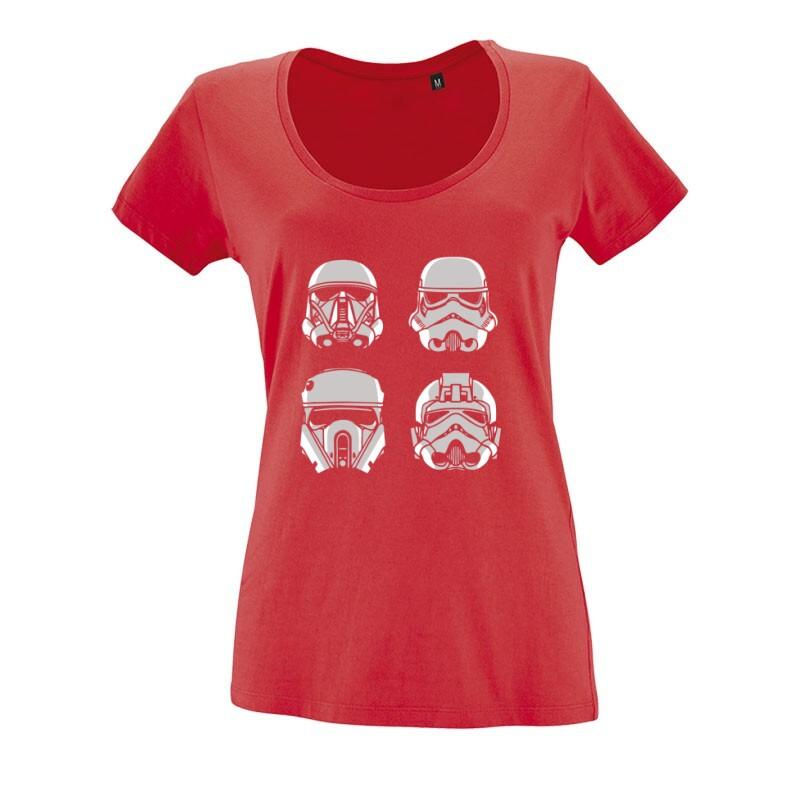 4 Troopers O nyakú női póló