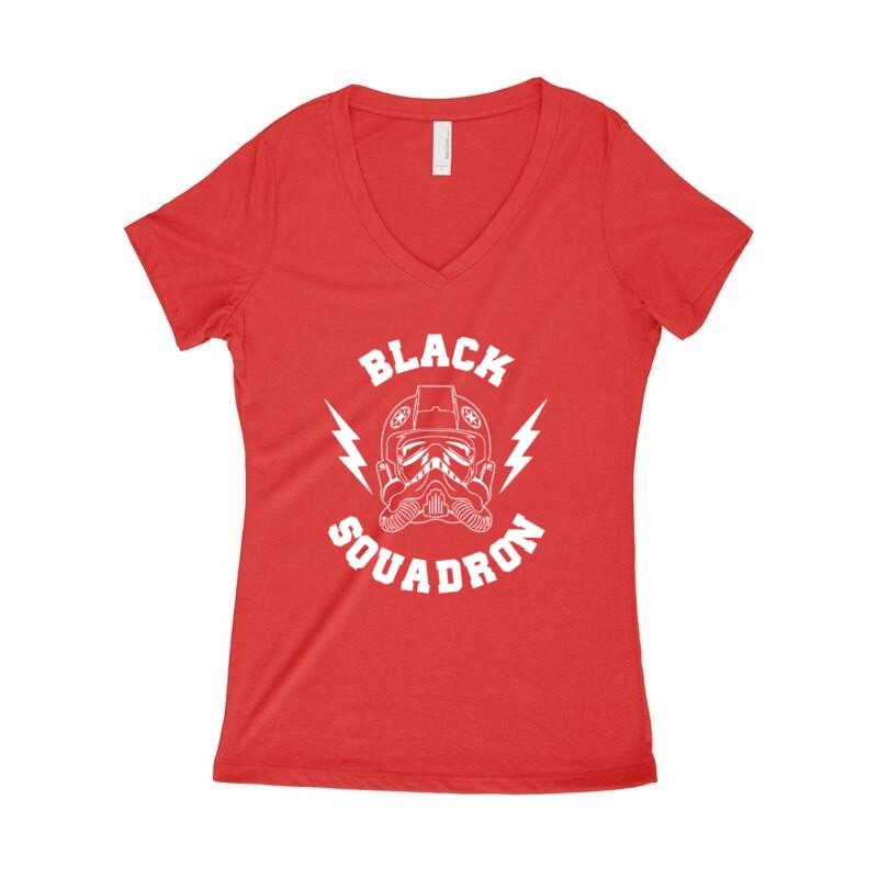 Black Squadron Női póló V kivágott