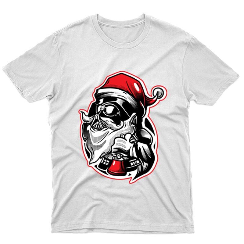 Darth Vader Santa Férfi póló