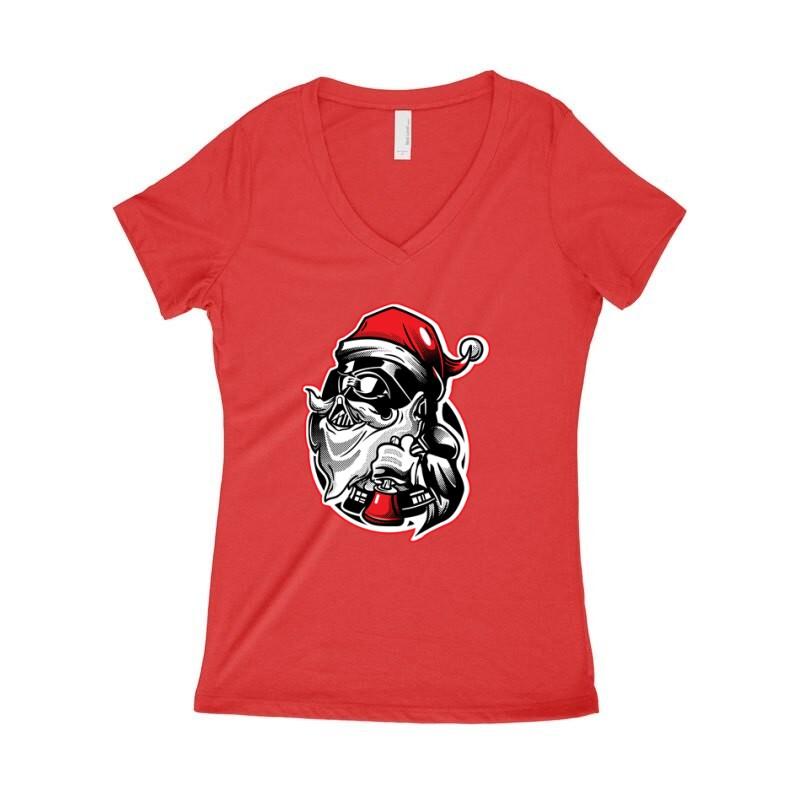 Darth Vader Santa Női póló V kivágott