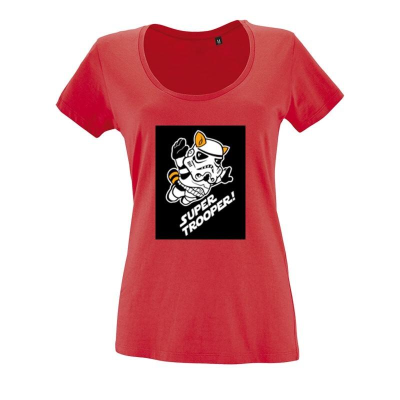 Mario Super Trooper O nyakú női póló