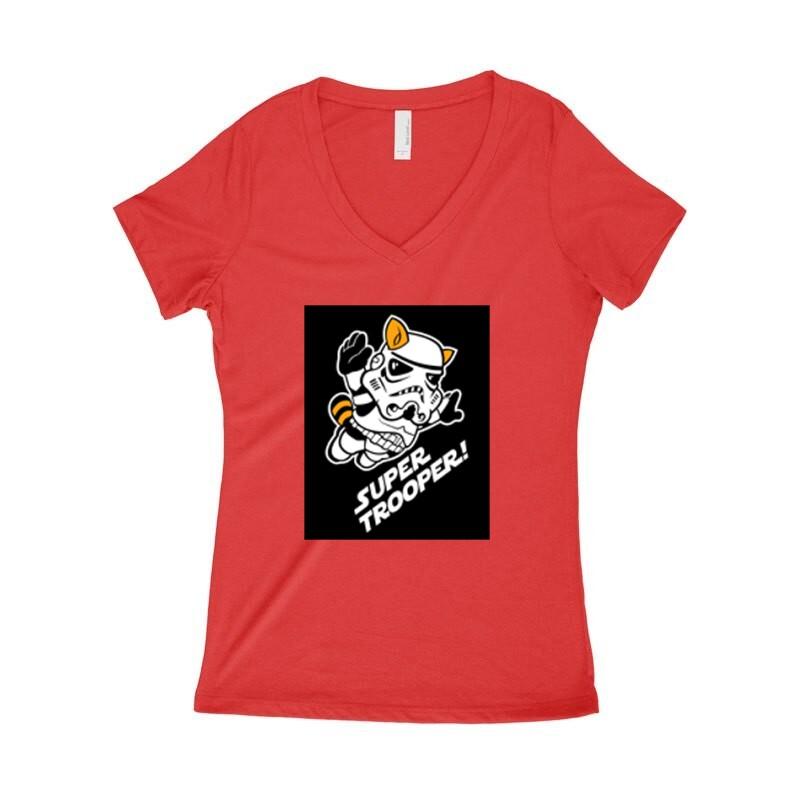 Mario Super Trooper Női póló V kivágott