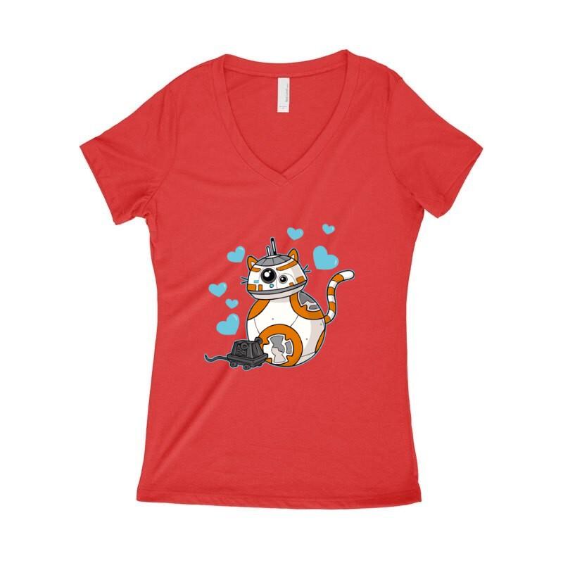 Love Robot Női póló V kivágott