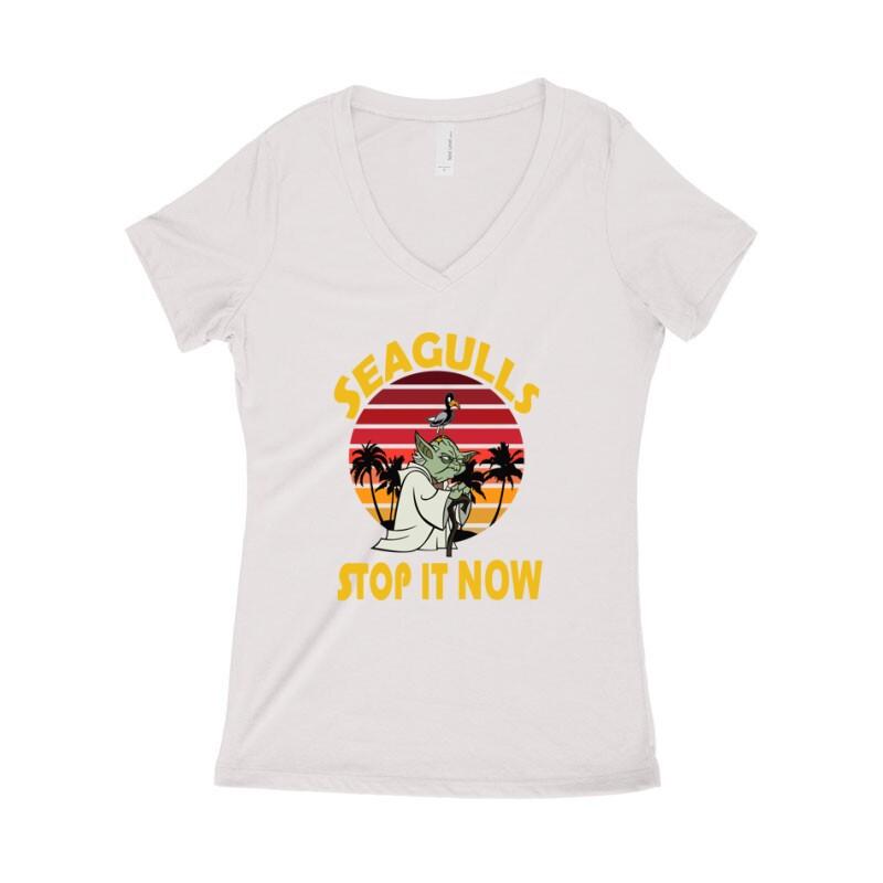 Seagulls Stop  It Now Női póló V kivágott