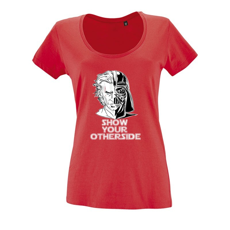 Show Your Otherside O nyakú női póló