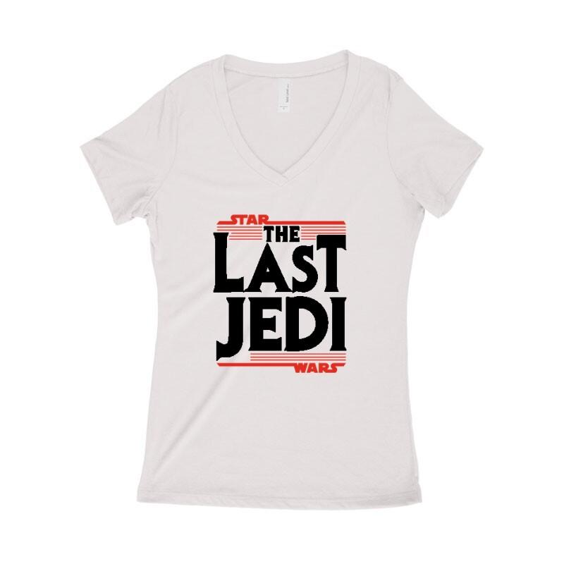 The Last Jedi Női póló V kivágott