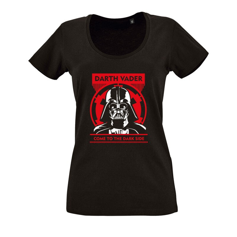 Come To the Dark Side O nyakú női póló