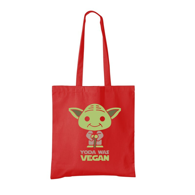 Yoda was vegan Bevásárló táska