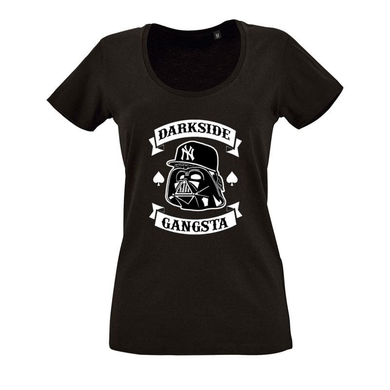 Darkside Gangsta O nyakú női póló