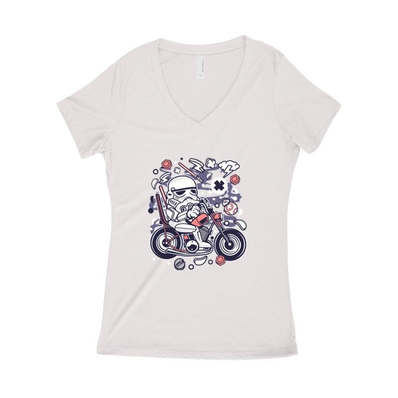 Trooper Biker Női póló V kivágott
