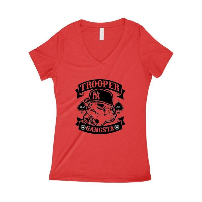 Trooper Gangsta Női póló V kivágott