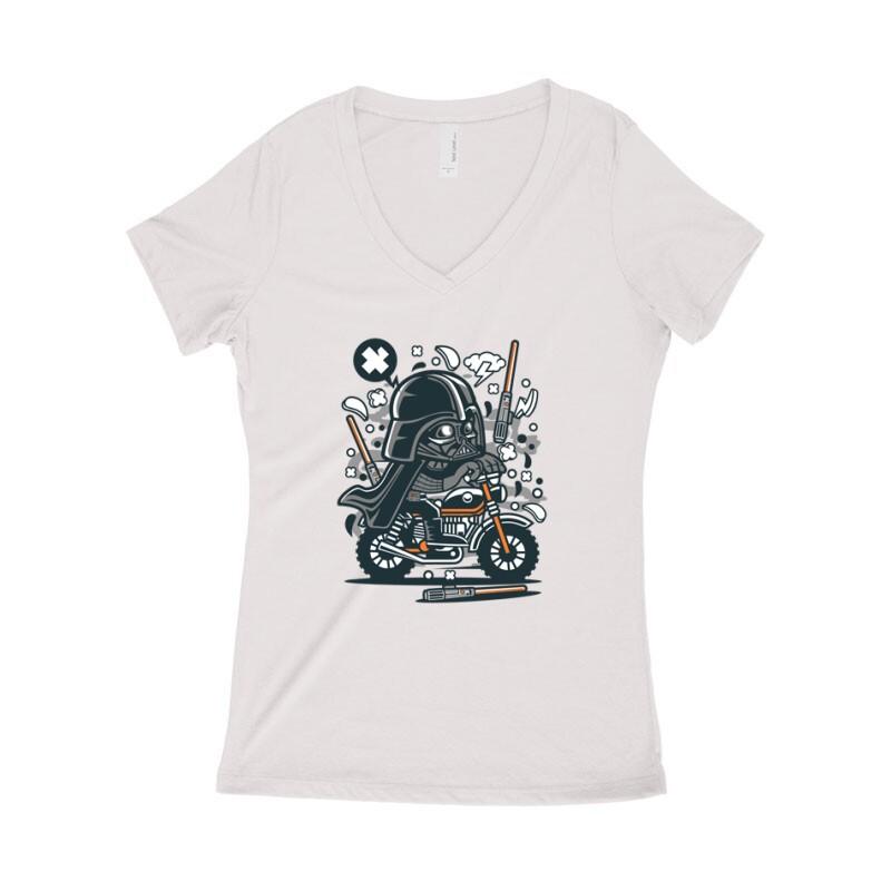 Vader Motocross Női póló V kivágott