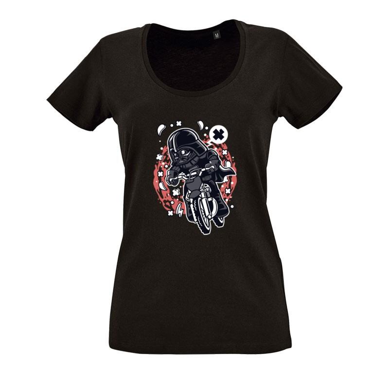 Vader Motocross Rider O nyakú női póló