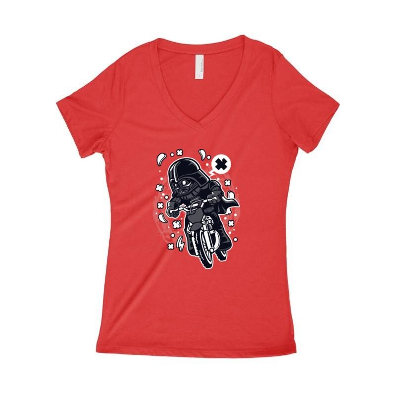 Vader Motocross Rider Női póló V kivágott