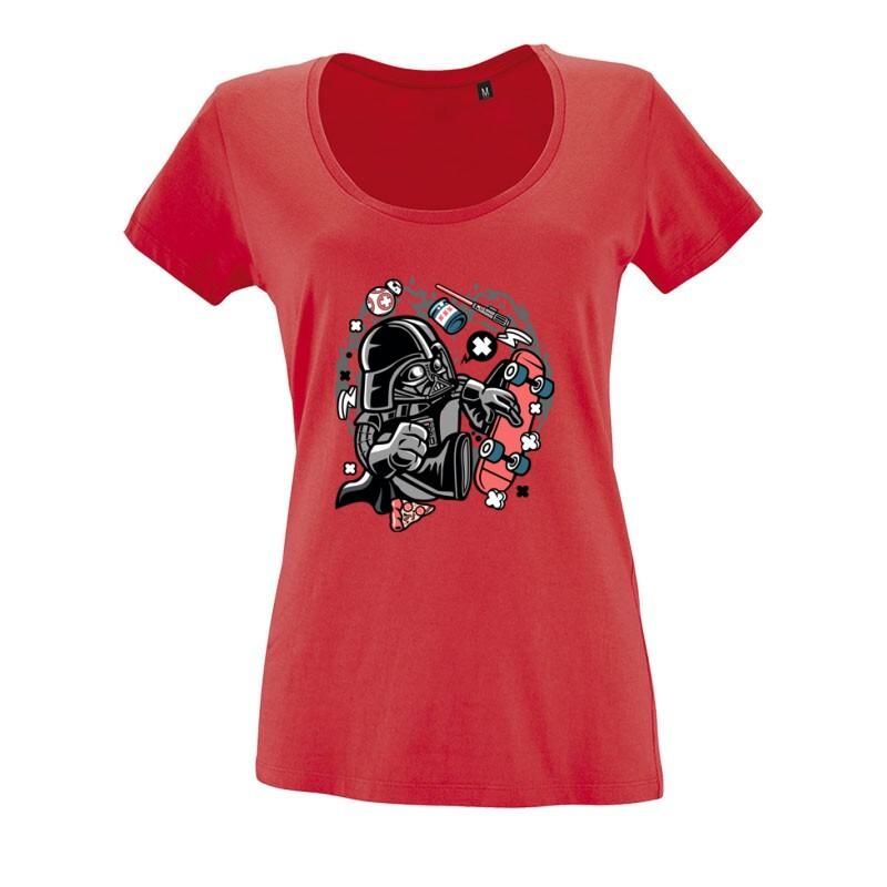 Vader Skater O nyakú női póló