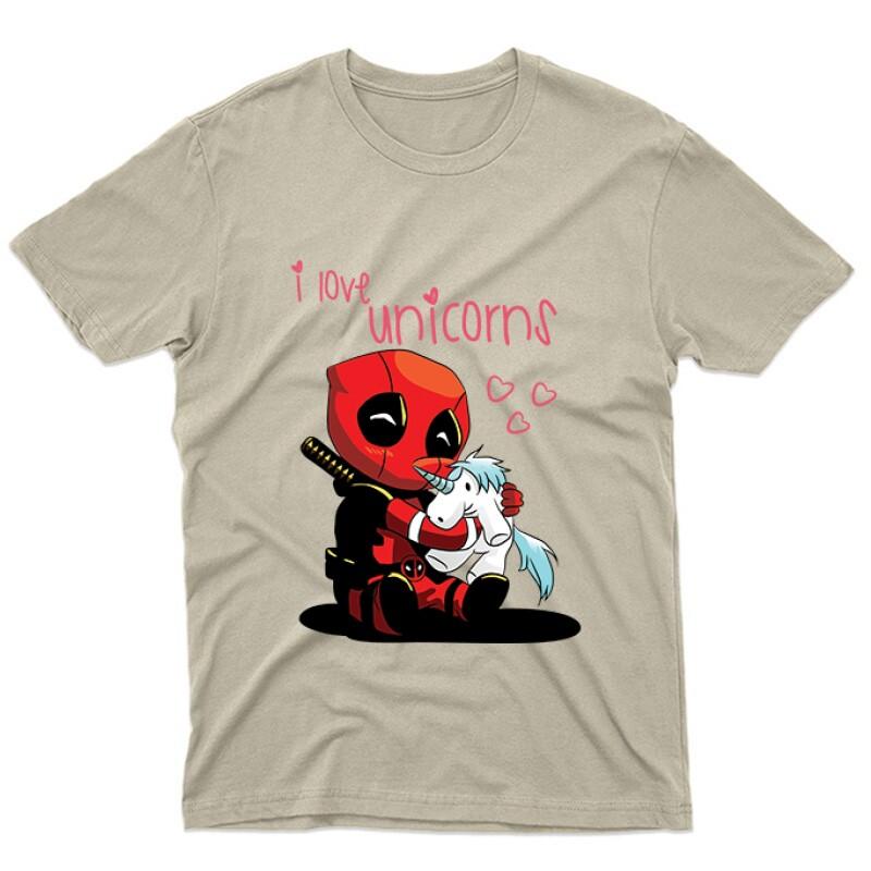 I Love Unicorns (Deadpool) Unisex Póló