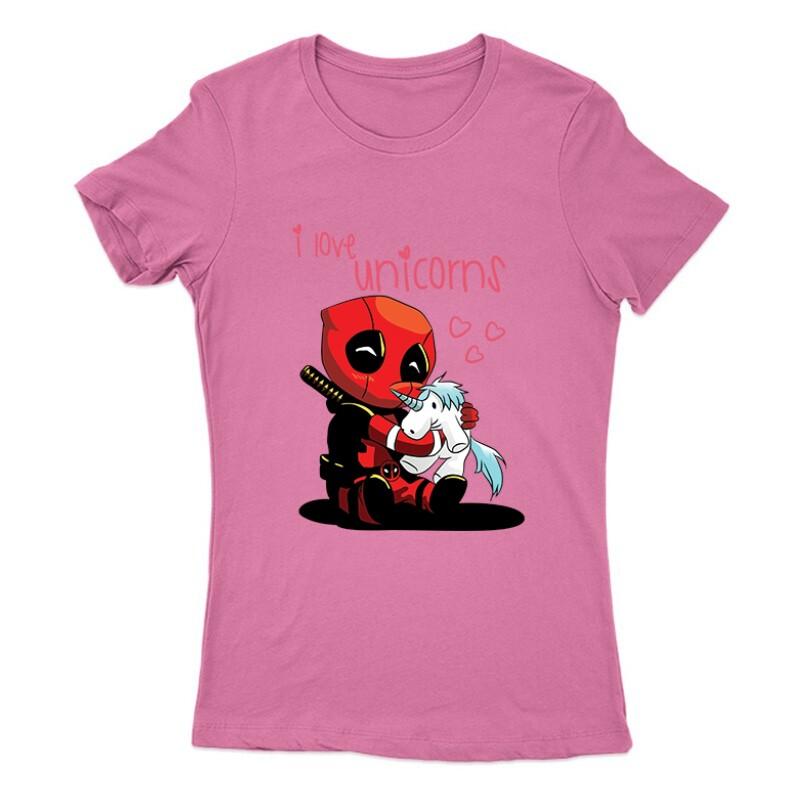I Love Unicorns (Deadpool) Női Póló