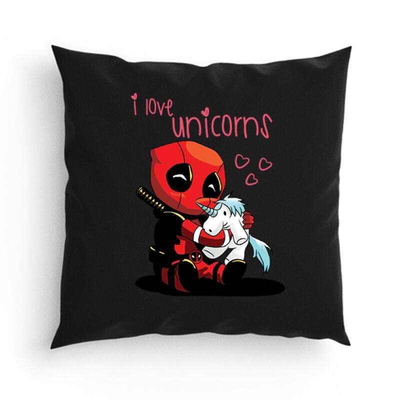 I Love Unicorns (Deadpool) Párna
