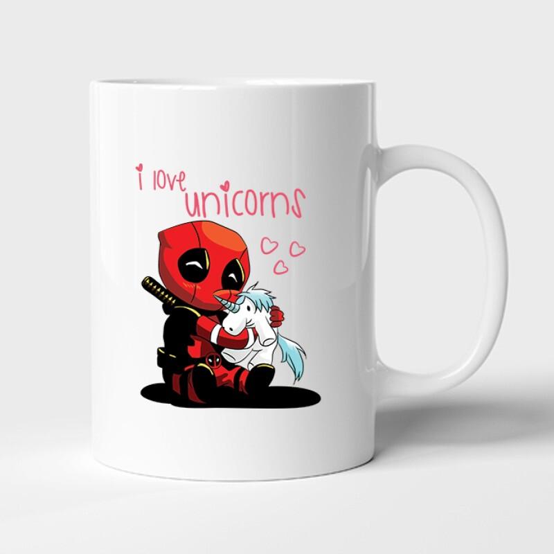 I Love Unicorns (Deadpool) Bögre