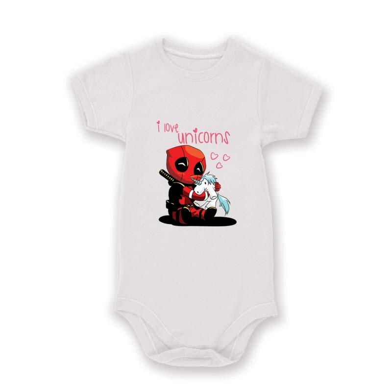 I Love Unicorns (Deadpool) Baby Body