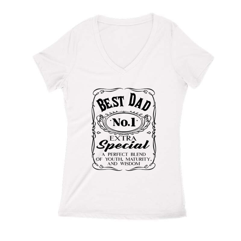 Best Dad Női V Kivágott póló