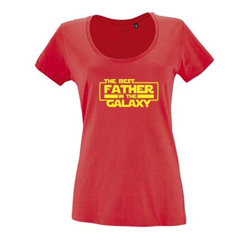 Best Father In The Galaxy Női O Nyakú Póló