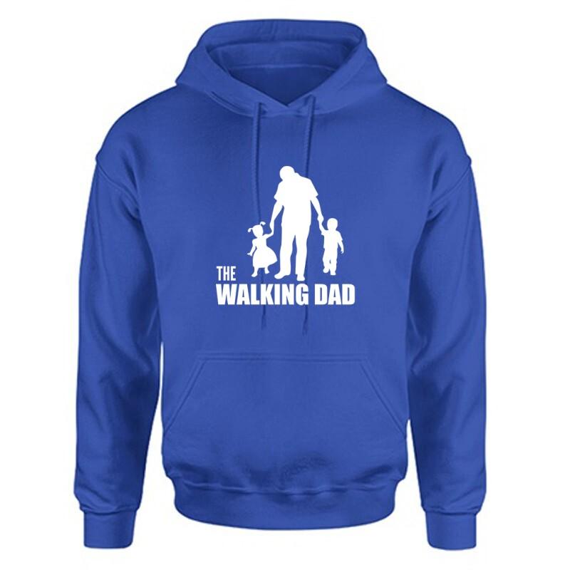 The Walking Dad (Álló, sétáló) Unisex Kapucnis Pulcsi