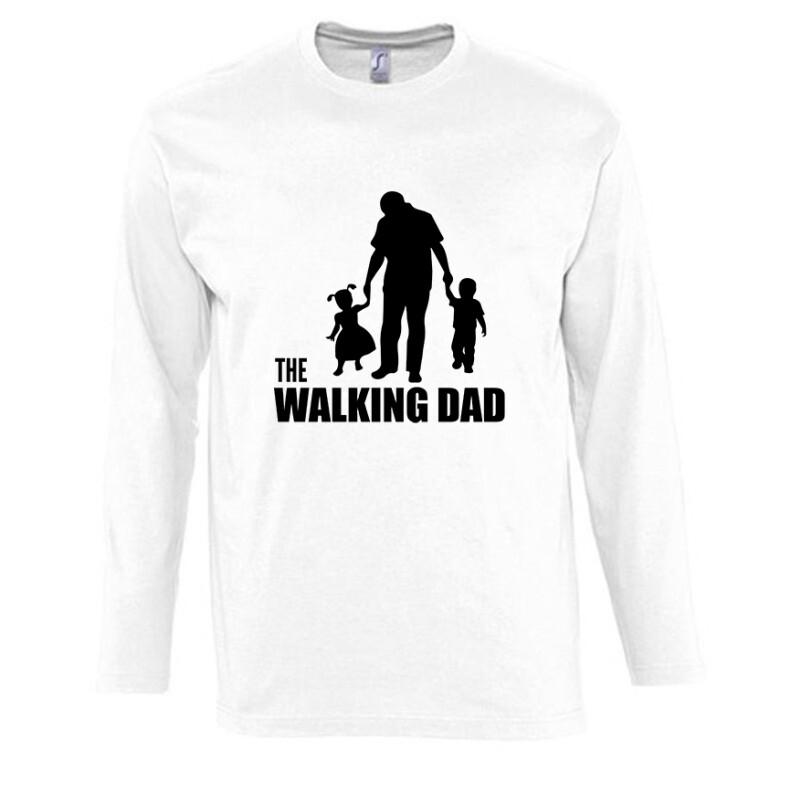 The Walking Dad (Álló, sétáló) Hosszú Ujjú Póló