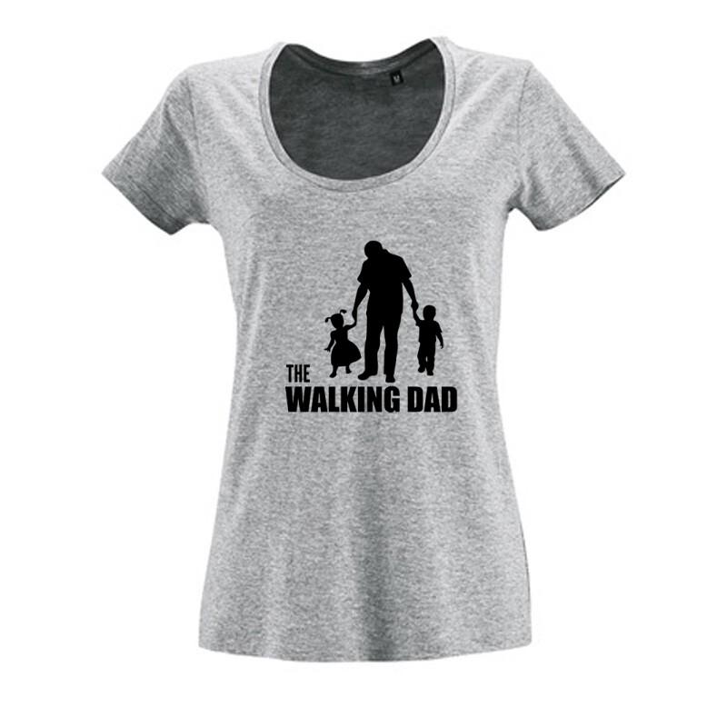 The Walking Dad (Álló, sétáló) Női O Nyakú Póló