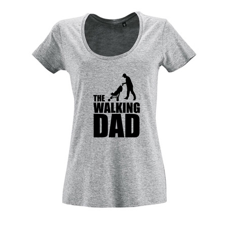 The Walking Dad (Babakocsis) Női O Nyakú Póló