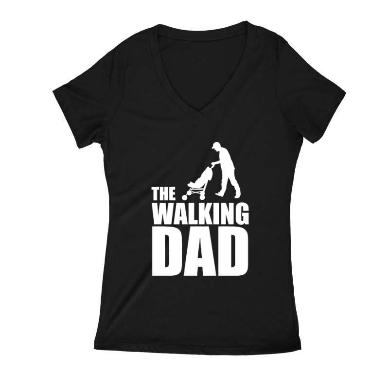 The Walking Dad (Babakocsis) Női V Kivágott póló