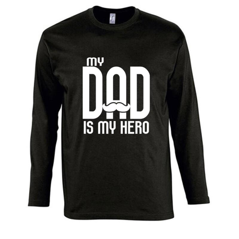 My dad is my hero Hosszú Ujjú Póló