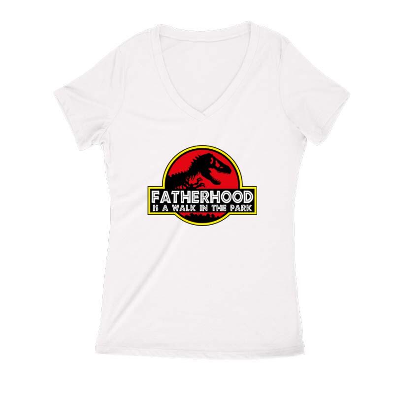 Fatherhood (Jurassic) Női V Kivágott póló