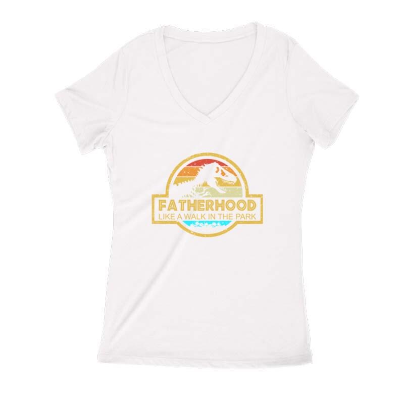 Faterhood color Női V Kivágott póló