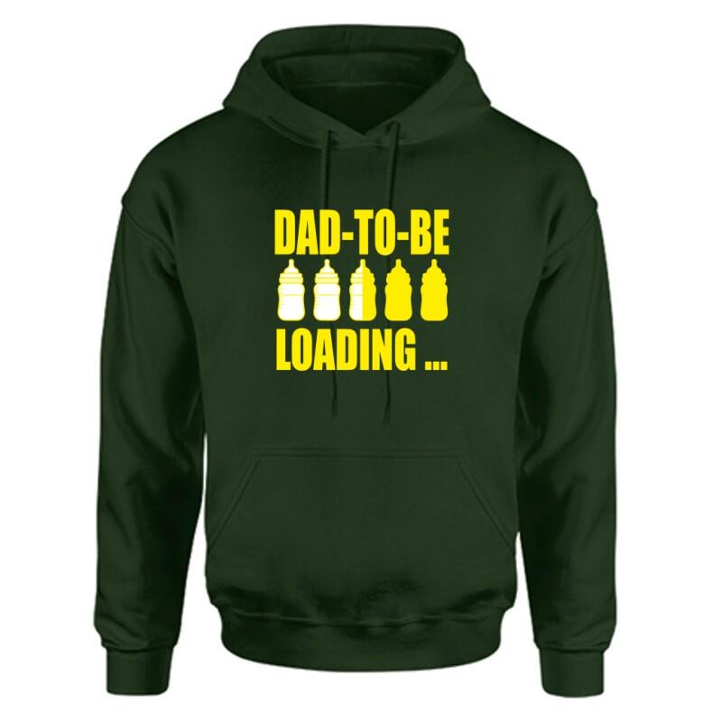 Dad to Be Loading... Unisex Kapucnis Pulcsi