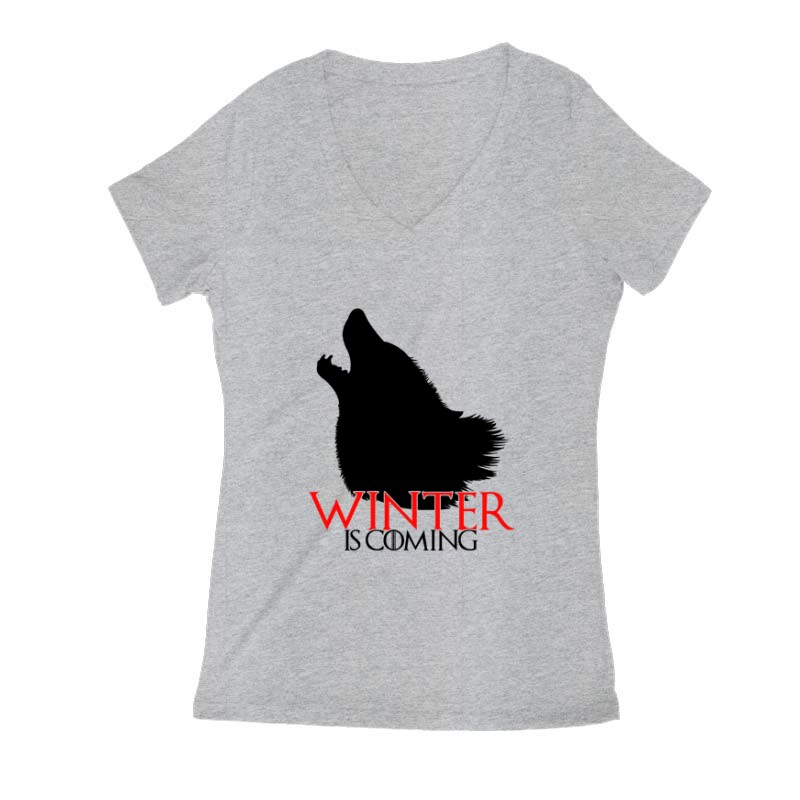 GOT Winter is coming Női V Kivágott póló
