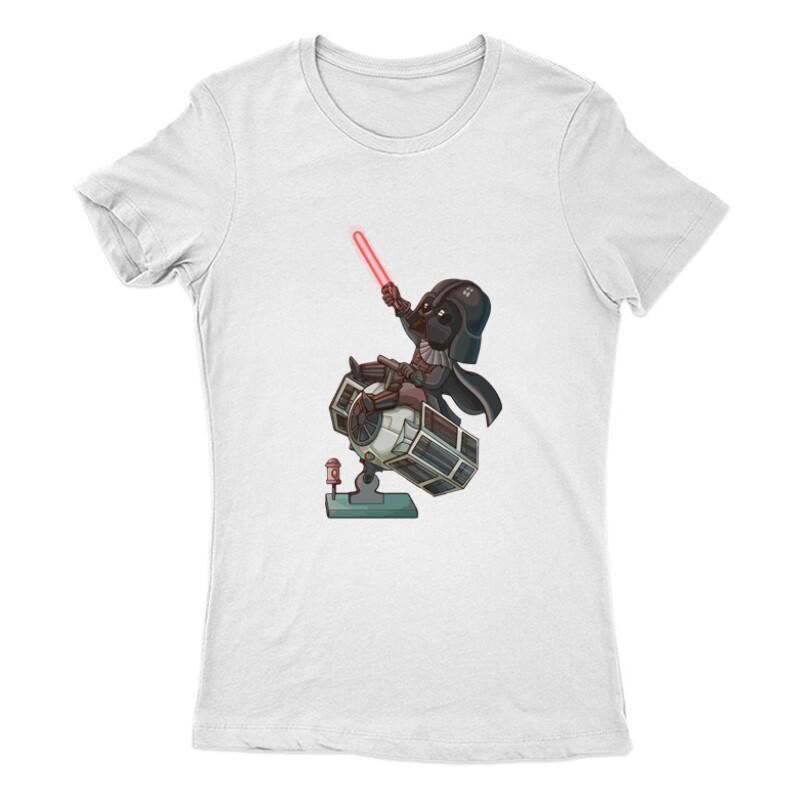 Vader & Tie fighter Női Póló