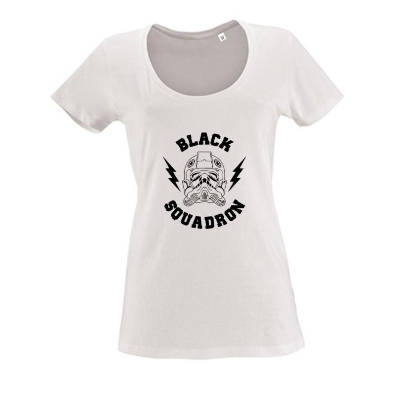 Black Squadron Női O Nyakú Póló