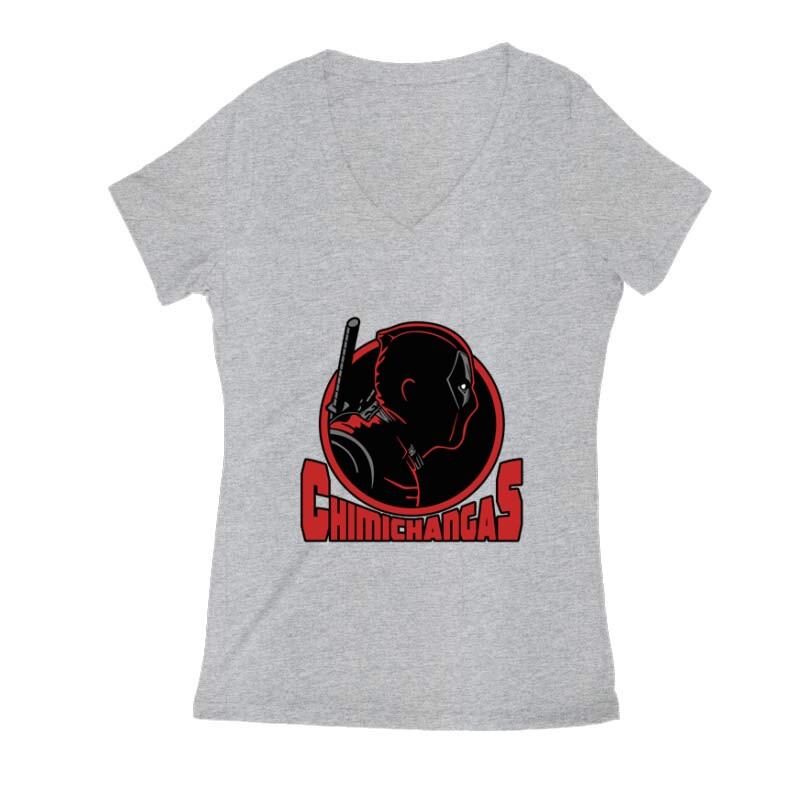 Deadpool chimichangas Női V Kivágott póló