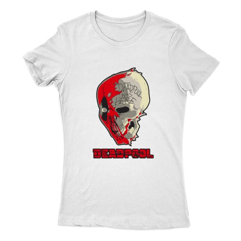 Deadpool Skull Női Póló