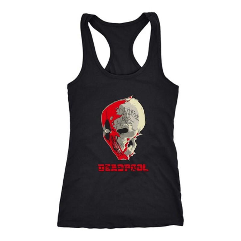 Deadpool Skull Női Trikó