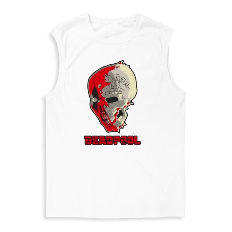 Deadpool Skull Férfi Trikó